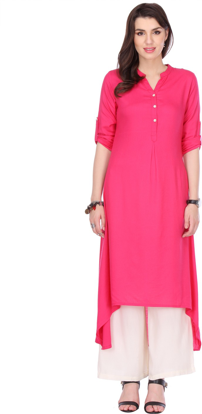 Varanga Printed Women's A-line Kurta(Pink)