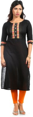 Fab Nisa Solid Women's Straight Kurta