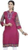 Shes Embroidered Women's A-line Kurta (P...