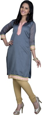 Maybell Solid Women's Straight Kurta