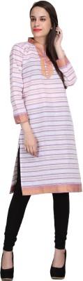 kannan Striped Women's A-line Kurta