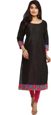 Indibox Embroidered Women's Straight Kurta