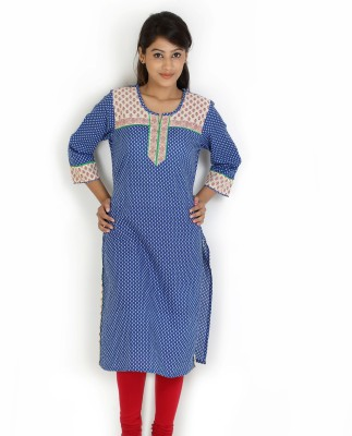Angel Tf Creations Polka Print Women,s A-line Kurta