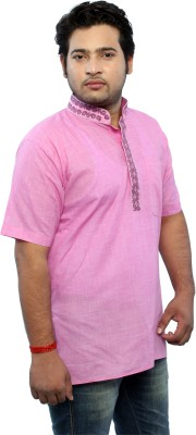Bhartiya Embroidered Men's Straight Kurta
