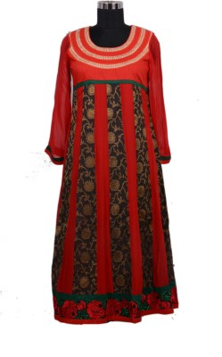Radhika Goyal Solid, Woven, Embroidered Women's Anarkali Kurta