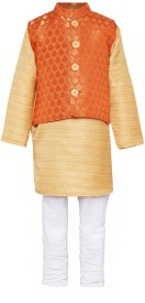 A Little Fable Solid Boys Flared Kurta(Multicolor)
