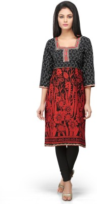 Devi Handlooms Floral Print Women's Straight Kurta