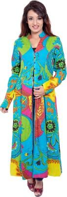 Tops and Tunics Floral Print Women's Flared Kurta