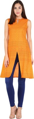 Libas Paisley Women's A-line Kurta(Orange) at flipkart
