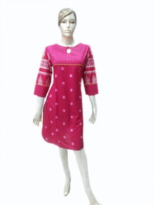 ZELE Casual Printed, Embroidered Women's Kurti