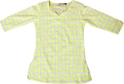 Textures Fashion Printed Girl's A-line Kurta