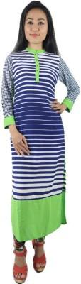 Shop More Striped Women's Straight Kurta