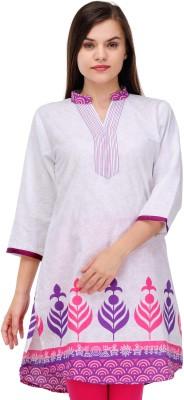 Fuchsia Designs Printed, Woven Women's Straight Kurta