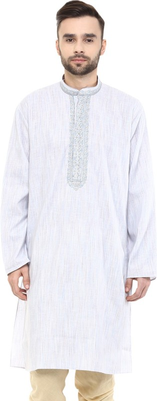 Yepme Embroidered Men's A-line Kurta(Blue)