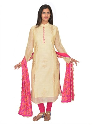 Selectives Embroidered Women's Straight Kurta