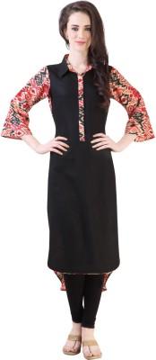 Libas Floral Print Women's A-line Kurta(Black, Red) at flipkart