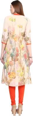 shwetna Floral Print Women's Straight Kurta