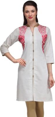 Adyana Embroidered Women's Straight Kurta