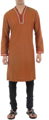 Roar and Growl Solid Men's Straight Kurta