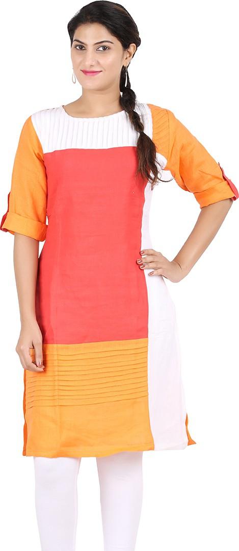 Venition Wardrobe Striped Womens Straight Kurta(Multicolor)