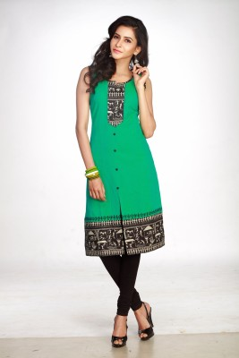 Maybell Printed, Embroidered Women,s Straight Kurta