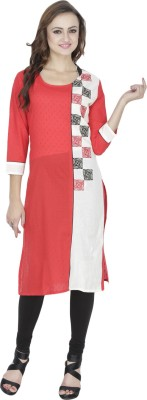 Dee's By Dashmesh Solid Women's Straight Kurta