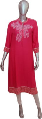 OLIVIAS fashion Embroidered Women's Straight Kurta