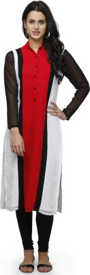 Ojjasvi Solid Women's Straight Kurta(Red) at flipkart