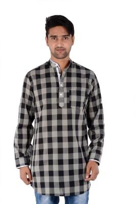 S9 MEN Checkered Men's Pathani Kurta