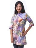 Enah Printed Women's A-line Kurta (Purpl...
