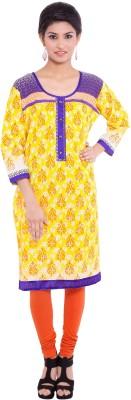 Agrima Fashion Floral Print Women's Straight Kurta