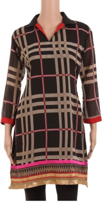 Rampwaq Checkered Women's A-line Kurta