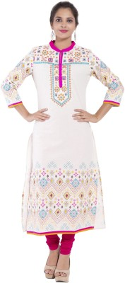 SS Garments Embroidered Women's Straight Kurta