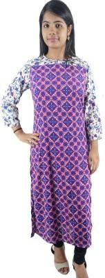 Shop More Floral Print Women's Straight Kurta