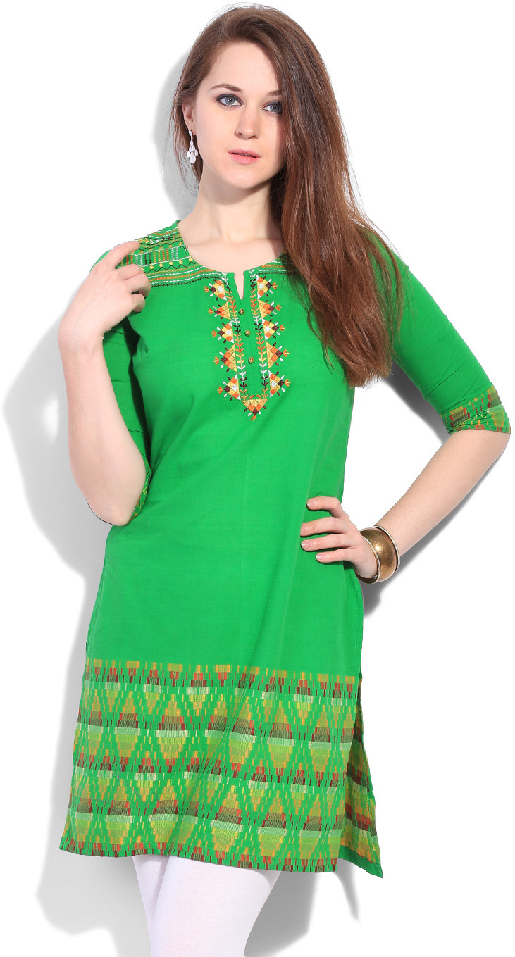 Aurelia Printed Womens Straight Kurta
