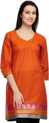 Fuchsia Designs Woven, Solid Women's Straight Kurta