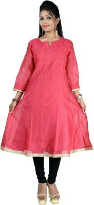 GO LUCKNOW Embroidered Women's Anarkali Kurta