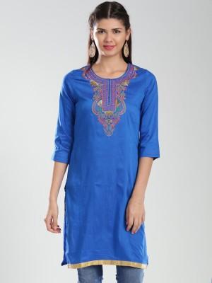 Anouk Embroidered Women's Straight Kurta