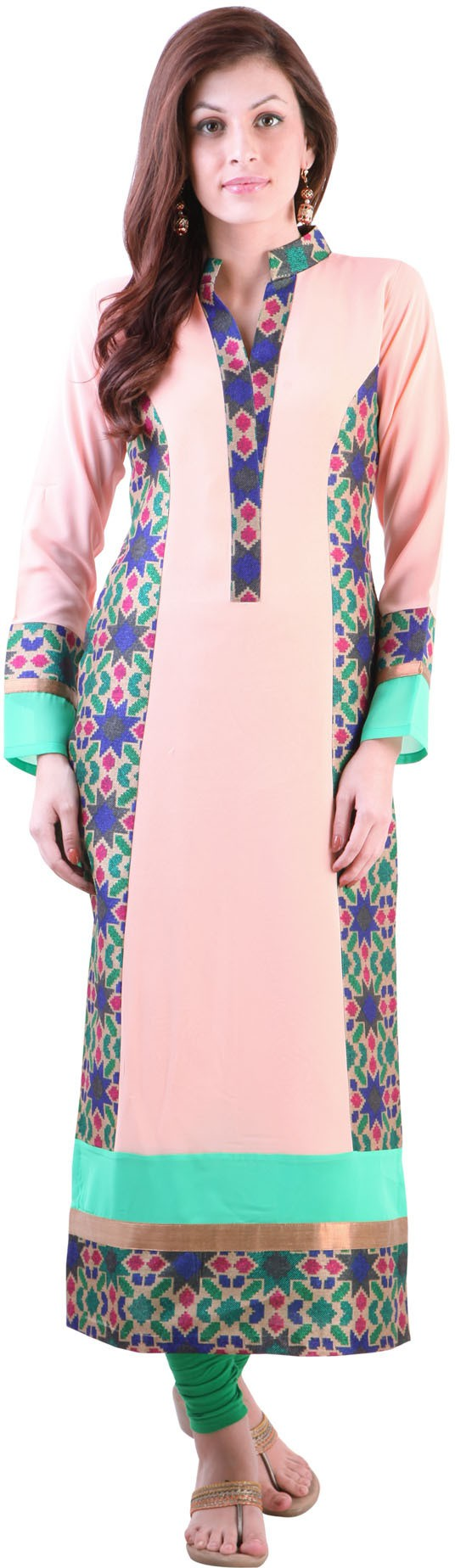 Libas Solid Womens Straight Kurta(Pink)