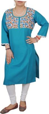 Aditi Fashions Solid Women,s Straight Kurta
