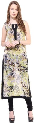 La Firangi Printed Women's Straight Kurta(Yellow) at flipkart