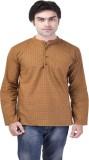 Kalrav Printed Men's A-line Kurta (Brown...