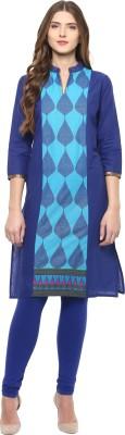 Rangeelo Rajasthan Printed Women's Straight Kurta(Blue) at flipkart
