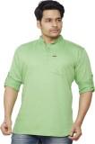 Goplay Solid Men's Straight Kurta (Green...