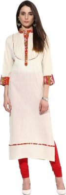 Jaipur Kurti Embroidered, Striped Women's Straight Kurta