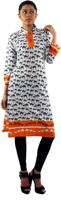 Zuri Animal Print Women's Straight Kurta