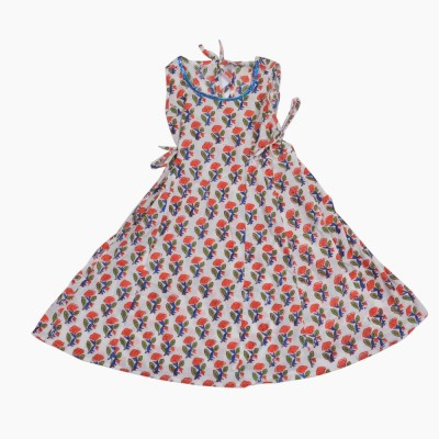 Buttercups Floral Print Girls Flared Kurta