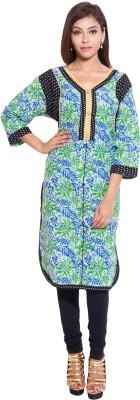 Reet Designers Floral Print Women's Pathani Kurta