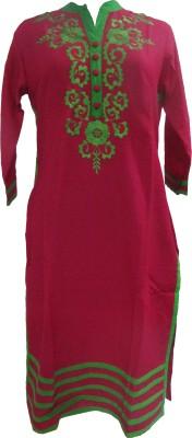 Paavani Embroidered, Solid Women's Straight Kurta