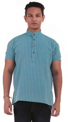 The G Street Striped Men's Straight Kurta